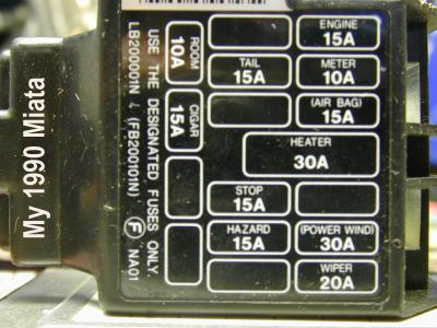 mazda miata 1990 fuse box circuit diagram symbols u2022 rh armkandy co 1990 miata fuse box location 1990 miata interior fuse box location